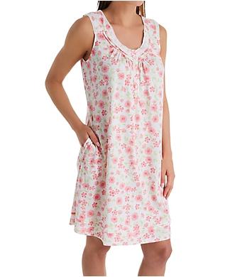 Aria Daisy Cotton Jersey Sleeveless Short Gown