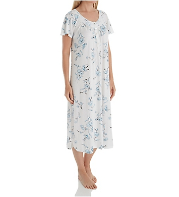 Aria Watercolor Short Sleeve Long Gown
