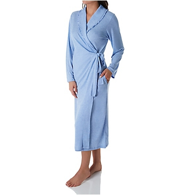 Aria Blue Ivy Long Sleeve Ballet Wrap Robe