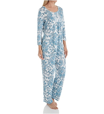 Aria Watercolor 3/4 Sleeve Long PJ Set