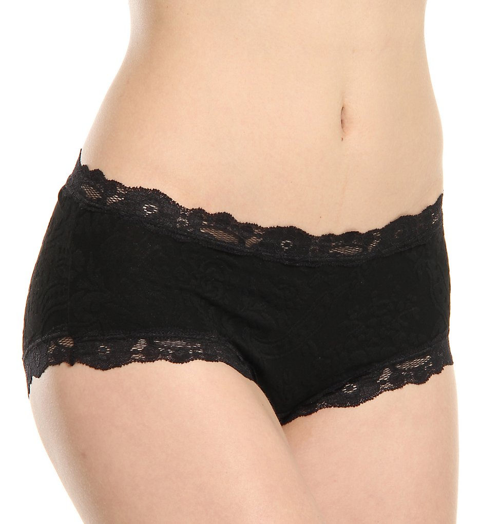 Arianne - Arianne 7652 Victoria Lace Low Rise Hipster Panty (Black S)