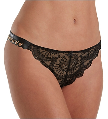Aubade Femme Sensuelle Faux Leather Tanga Panty