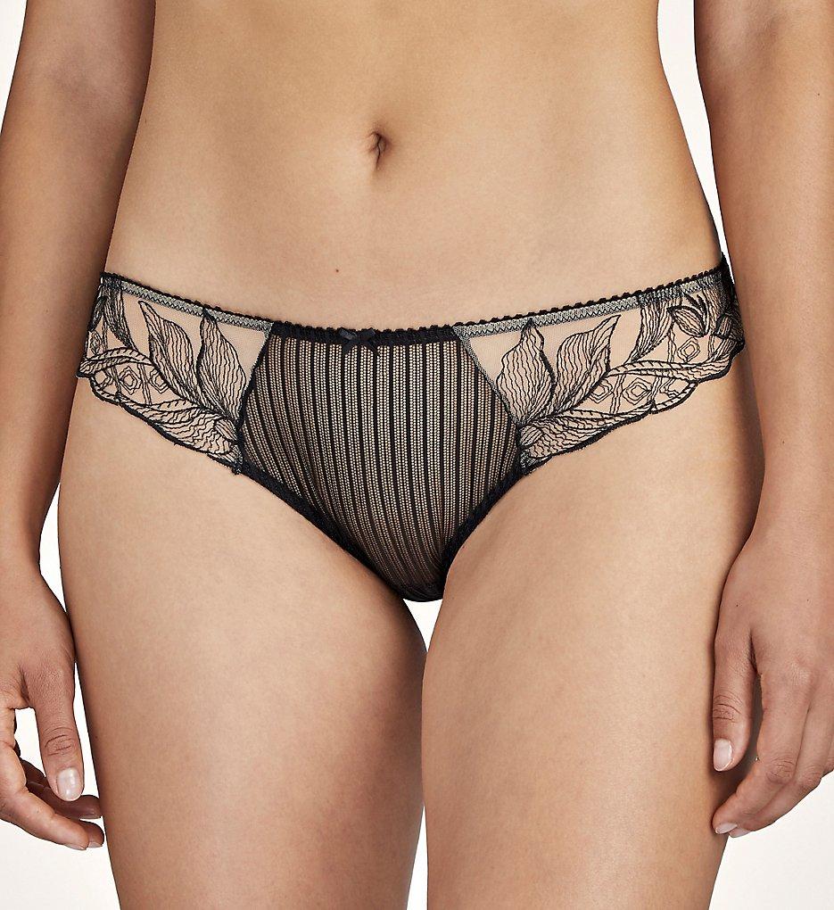 Aubade - Aubade TB27 Fleur De Tattoo Italian Bikini Brief Panty (Encre Noire XL)