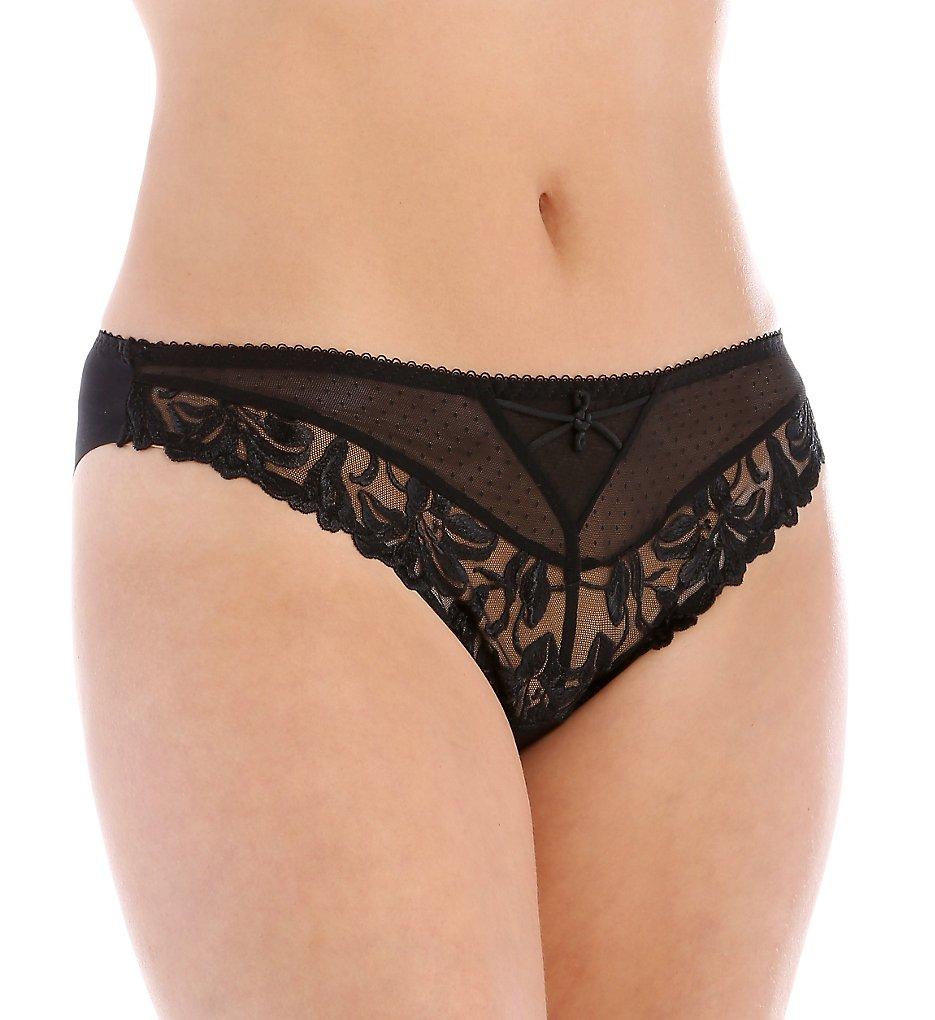 Aubade >> Aubade YA22 Jardin des Delices Brazilian Panty (Black M)