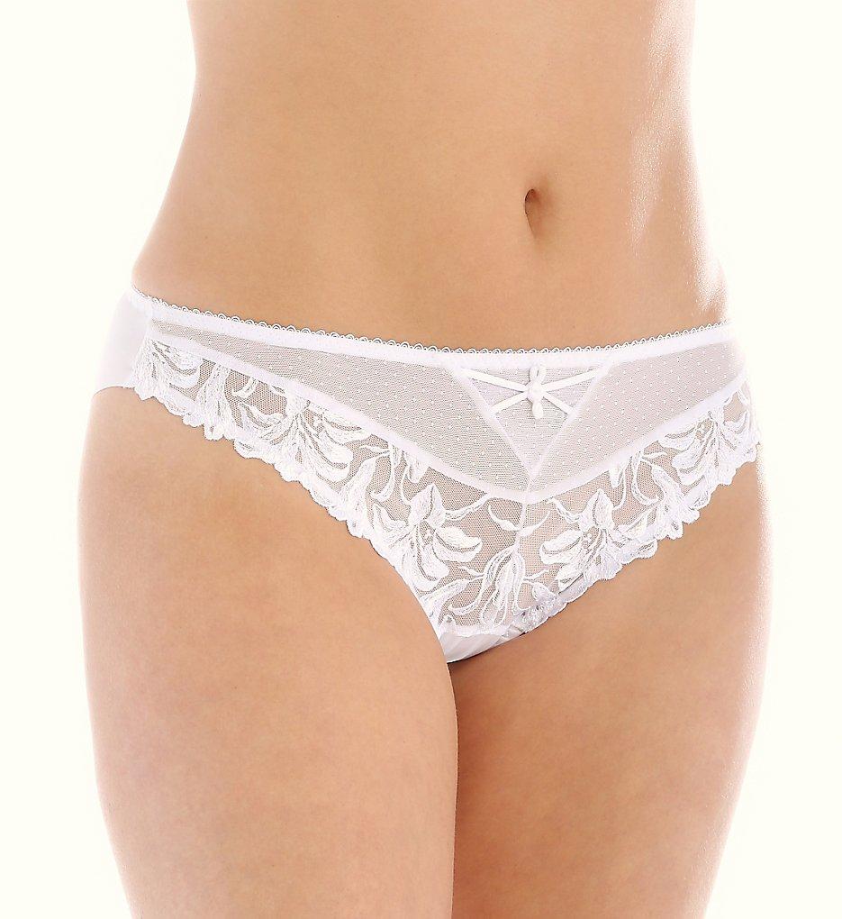 Aubade - Aubade YA22 Jardin des Delices Brazilian Panty (White XL)