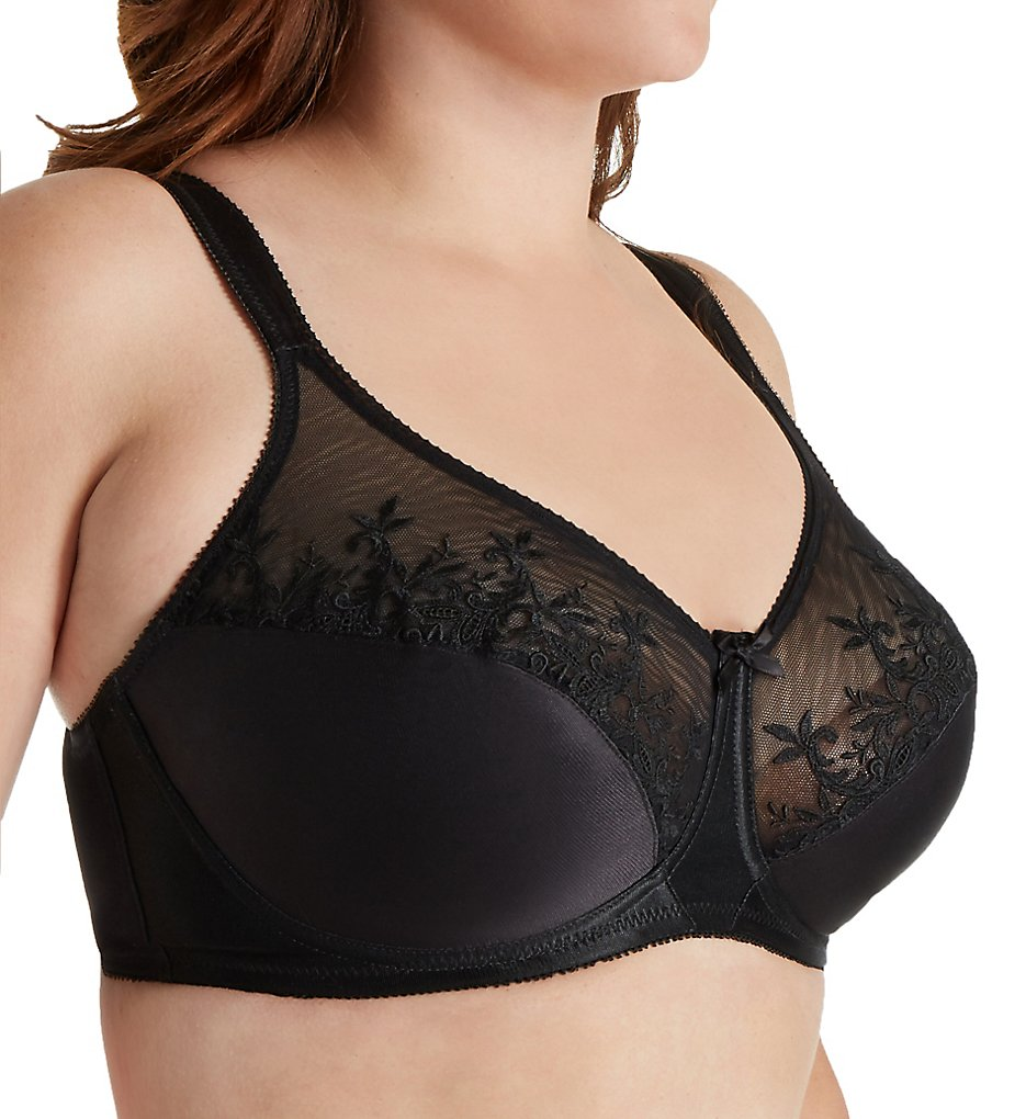 Aviana - Aviana 2456 Underwire Embroidered Bra (Black 34D)