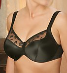 Satin and Lace Minimizer Bra