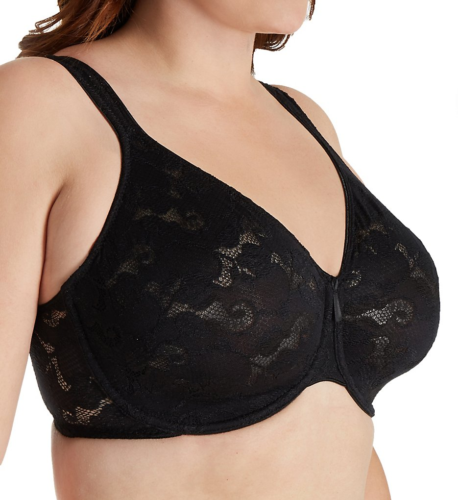 Aviana - Aviana 2459 All Over Lace Underwire Bra (Black 38G)