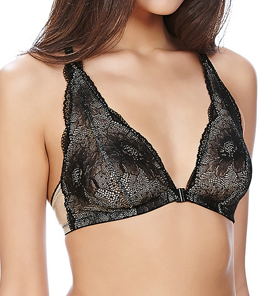 b.tempt'd by Wacoal - b.tempt'd by Wacoal 910222 b.provocative Front Close Bralette (Night Black S)