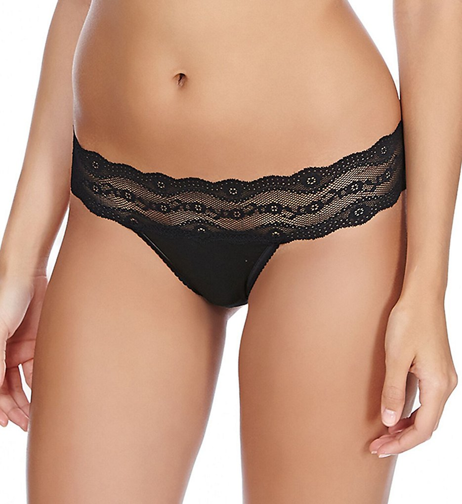 b.tempt'd by Wacoal >> b.tempt'd by Wacoal 932182 b.adorable Bikini Panty (Night Black XL)