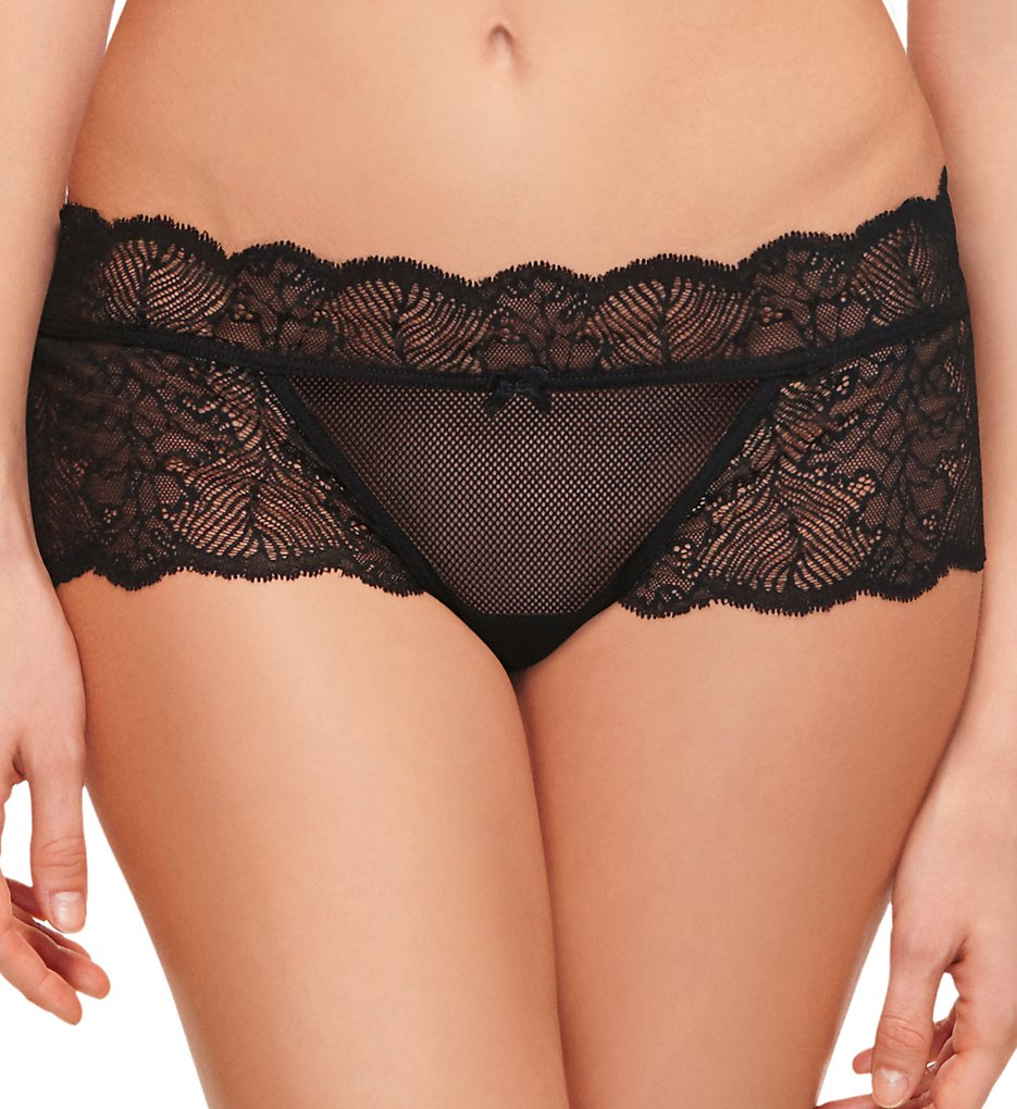 b.tempt'd by Wacoal >> b.tempt'd by Wacoal 945220 After Hours Boyshort Panty (Night Black L)