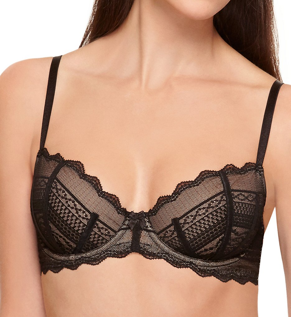 b.tempt'd by Wacoal - b.tempt'd by Wacoal 951243 b.cherished Underwire Bra (Night Black 32D)