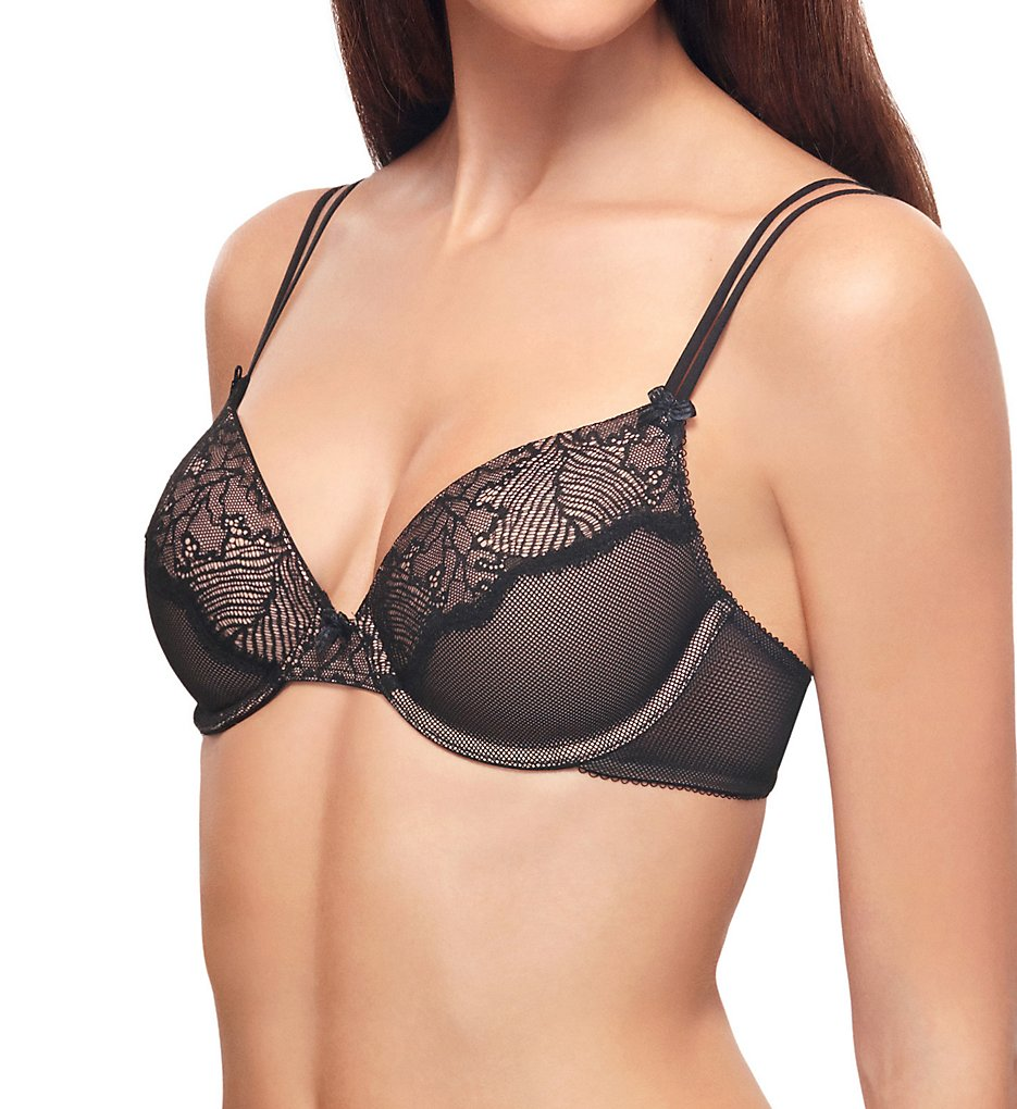 b.tempt'd by Wacoal : b.tempt'd by Wacoal 953220 After Hours Contour Underwire Bra (Night Black 32B)