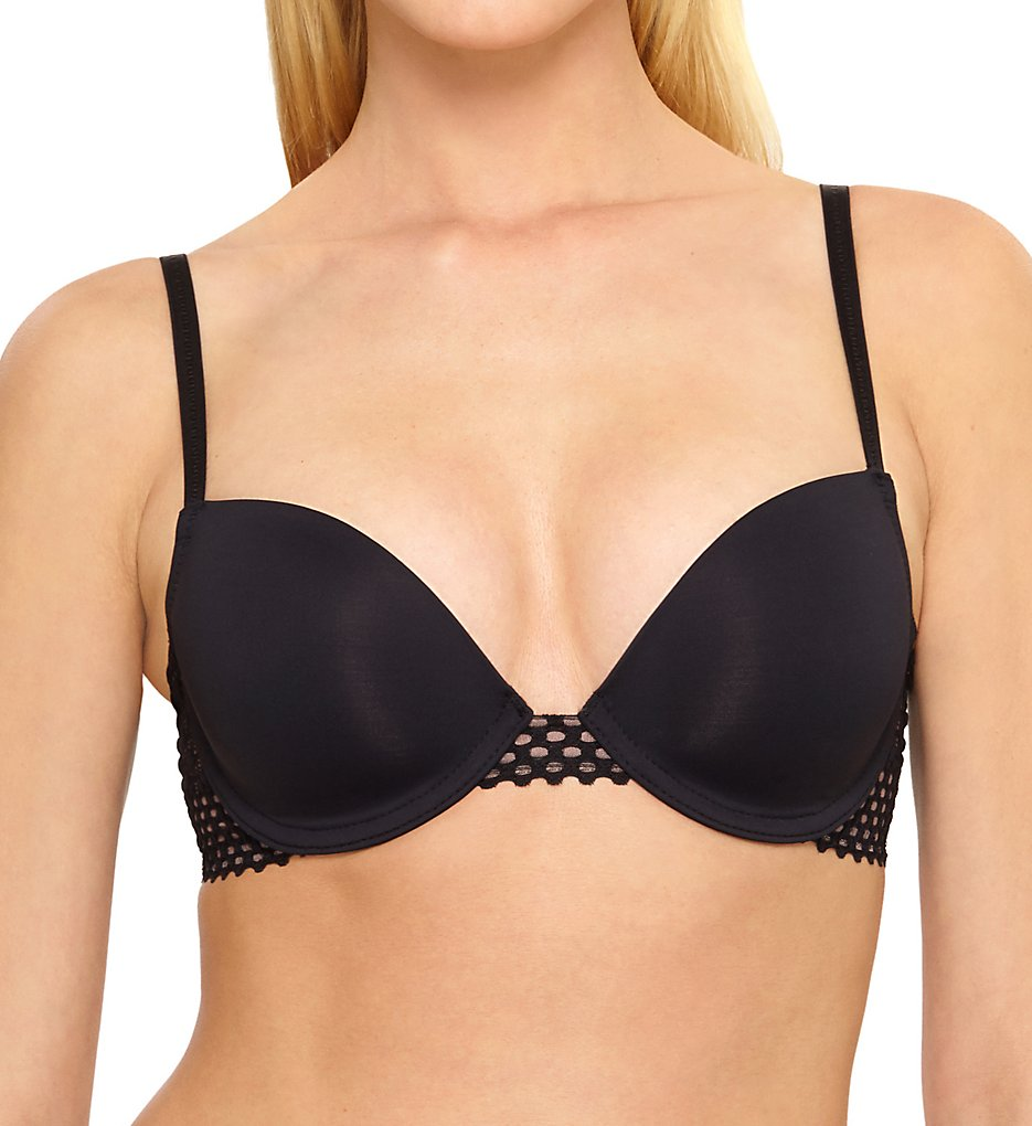 b.tempt'd by Wacoal >> b.tempt'd by Wacoal 953228 Tied in Dots Contour Underwire Bra (Night 32B)