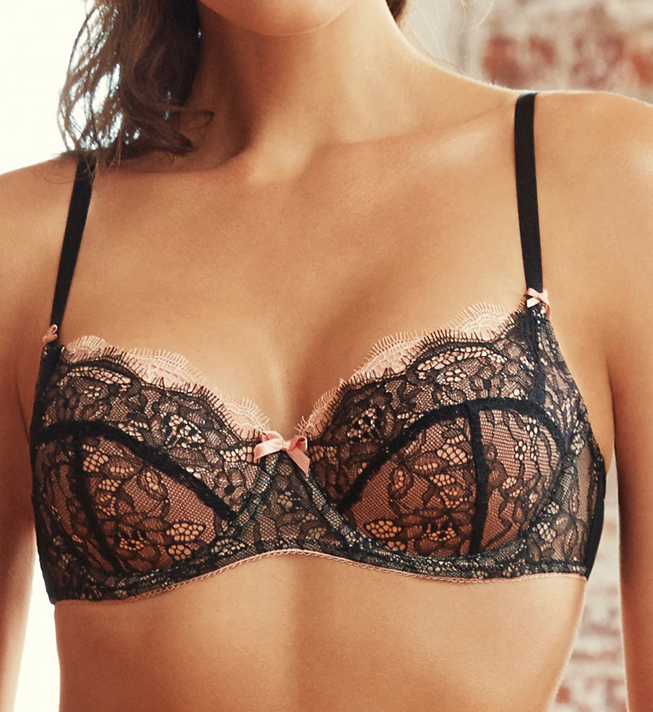 b.tempt'd by Wacoal >> b.tempt'd by Wacoal 953261 b.sultry Balconette Bra (Night/Peach Beige 32C)