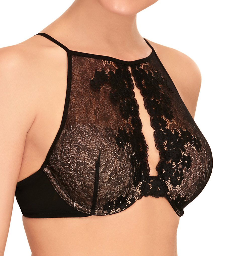 b.tempt'd by Wacoal - b.tempt'd by Wacoal 959229 Insta Ready High Neck Underwire Bralette (Night S)
