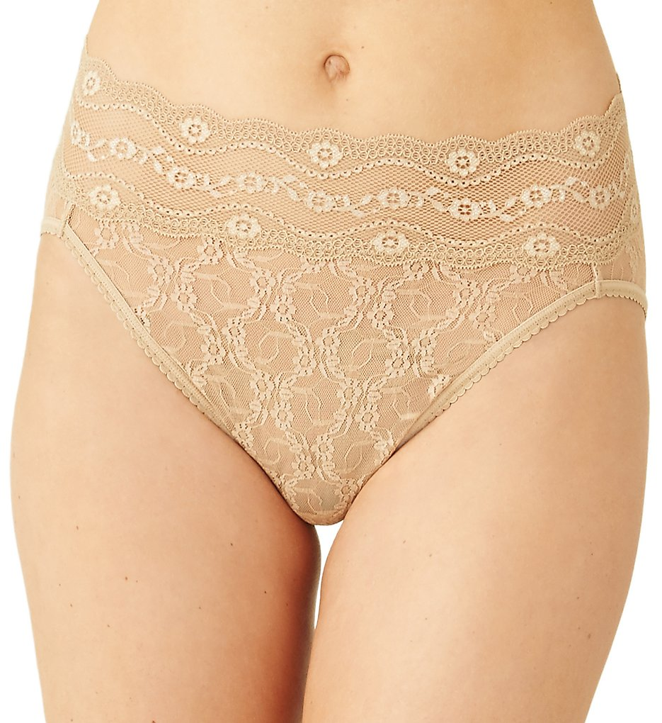 b.tempt'd by Wacoal - b.tempt'd by Wacoal 978382 Lace Kiss Hi Leg Brief Panty (Au Natural S)