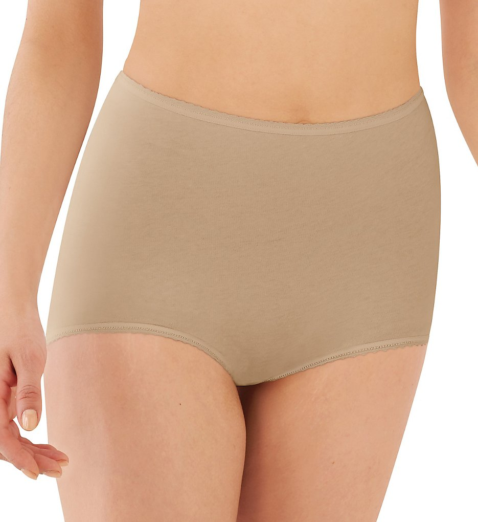 Bali - Bali 2332 Cool Cotton Skimp Skamp Brief Panty (Nude 10)