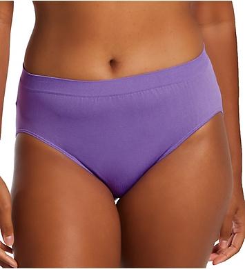 Bali Comfort Revolution Microfiber Solid Hi-Cut Panty