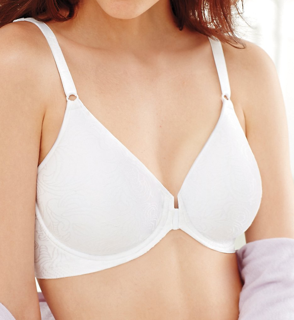 Bali - Bali 3P66 Comfort Revolution Front-Close Shaping Underwire (White 34B)