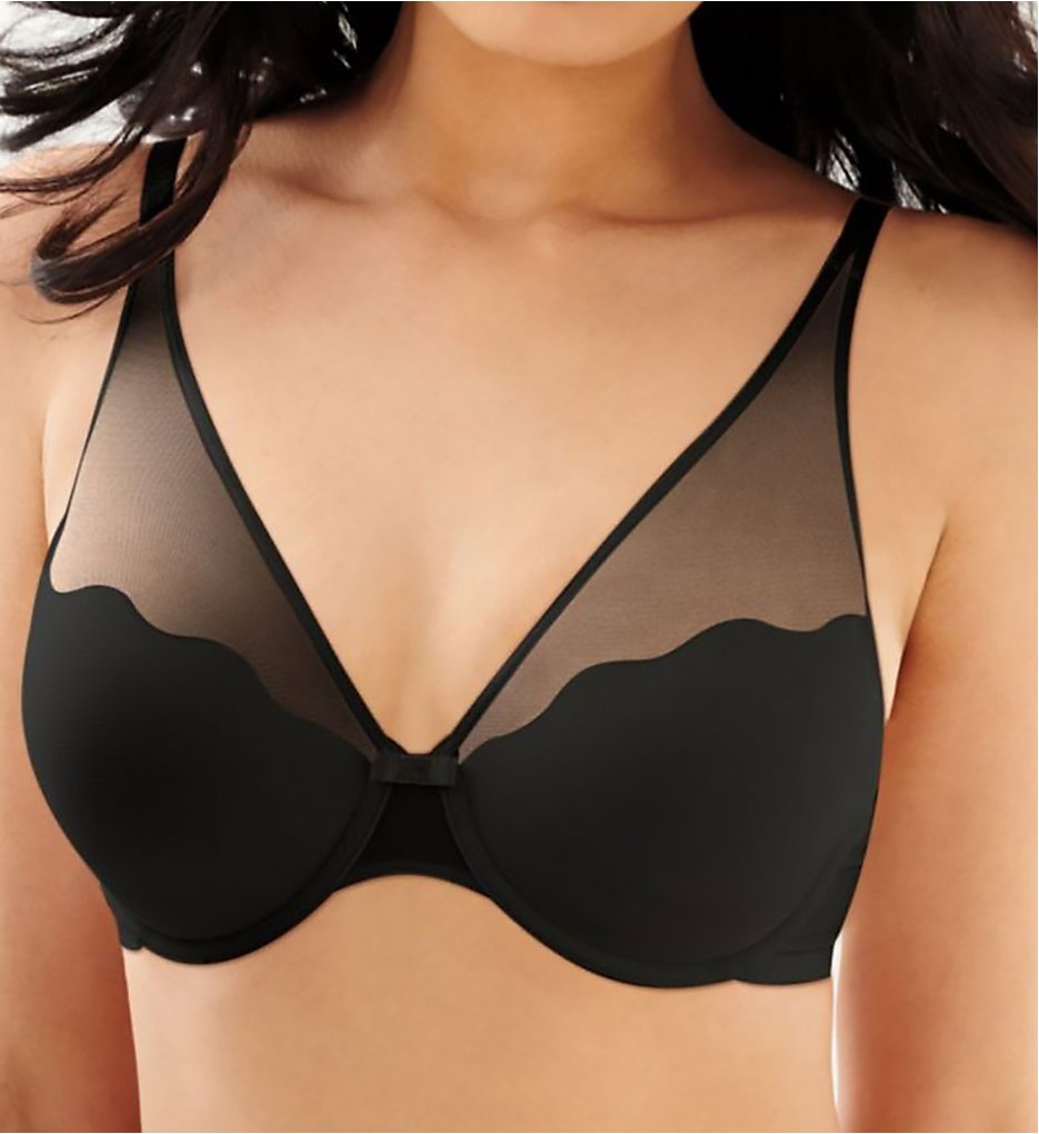 Bali - Bali 6544 Sheer Sleek Desire Foam Underwire Bra (Black 36B)