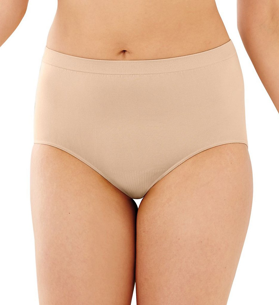 Bali - Bali 803J Comfort Revolution Microfiber Brief Panty (Light Beige 10/11)