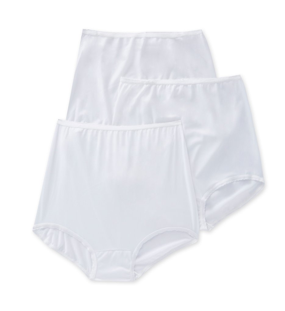 Bali - Bali A633 Skimp Skamp Brief Panty - 3 Pack (3 White 10)