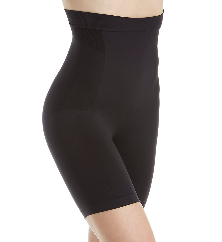 Bali - Bali DF0047 Customized Comfort Seamless Hi Waist Thigh Slimmer (Black M)