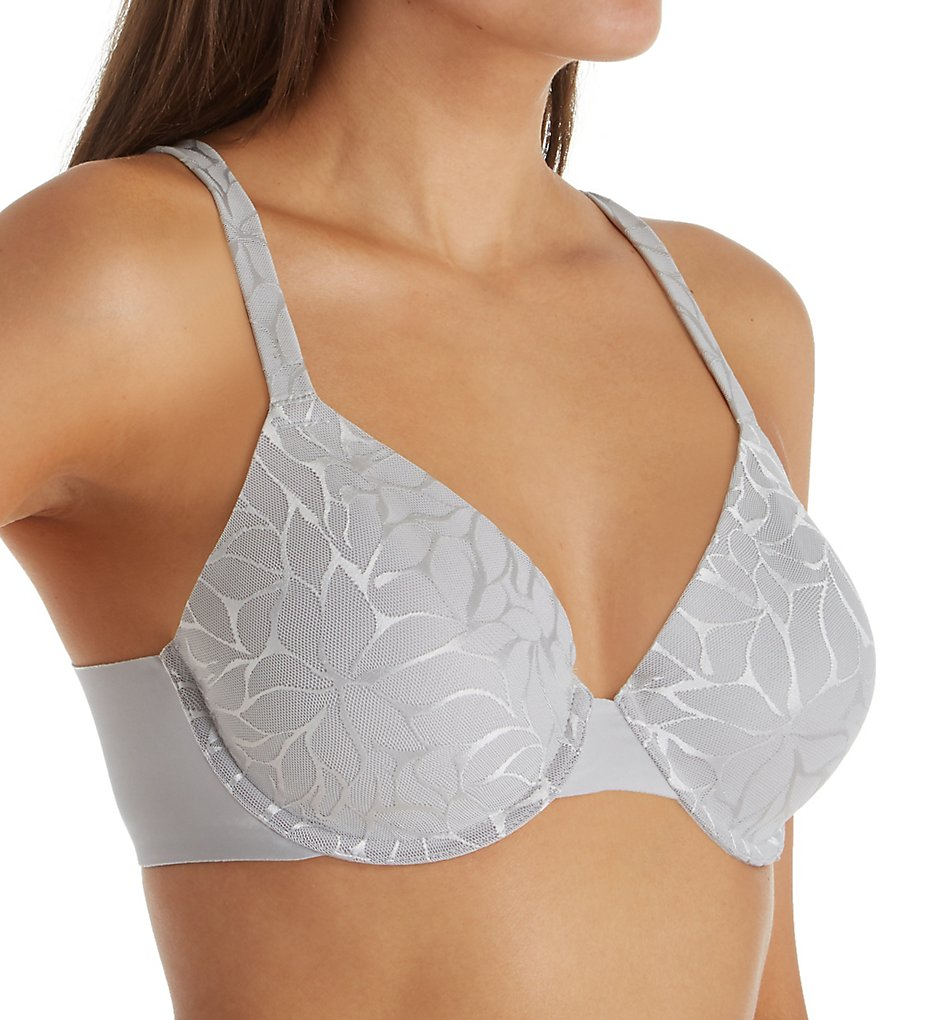 Bali DF0085 Beauty Lift Invisible Support Underwire Bra (Crystal Grey Lace