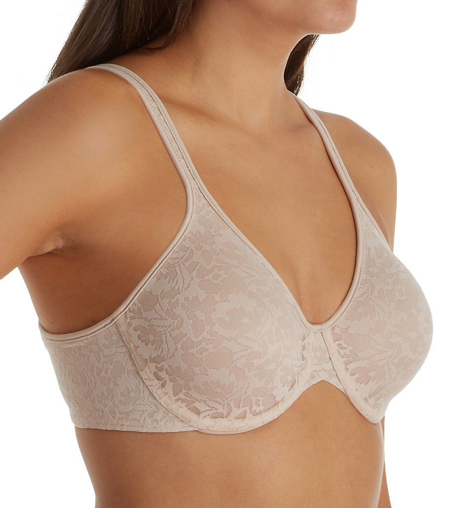 Bali DF3382 Passion For Comfort Back Smoothing Underwire Bra (Paris Nude Lace)