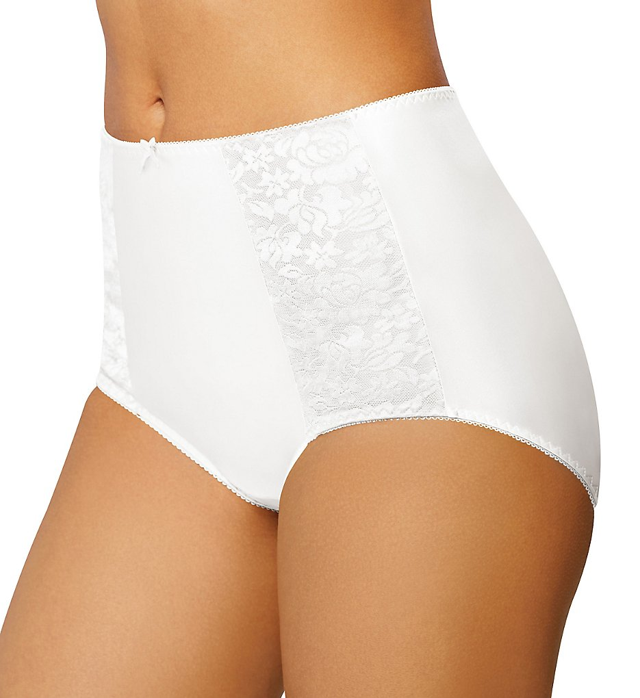 Bali - Bali DFDBBF Double Support Brief Panty (White 6)