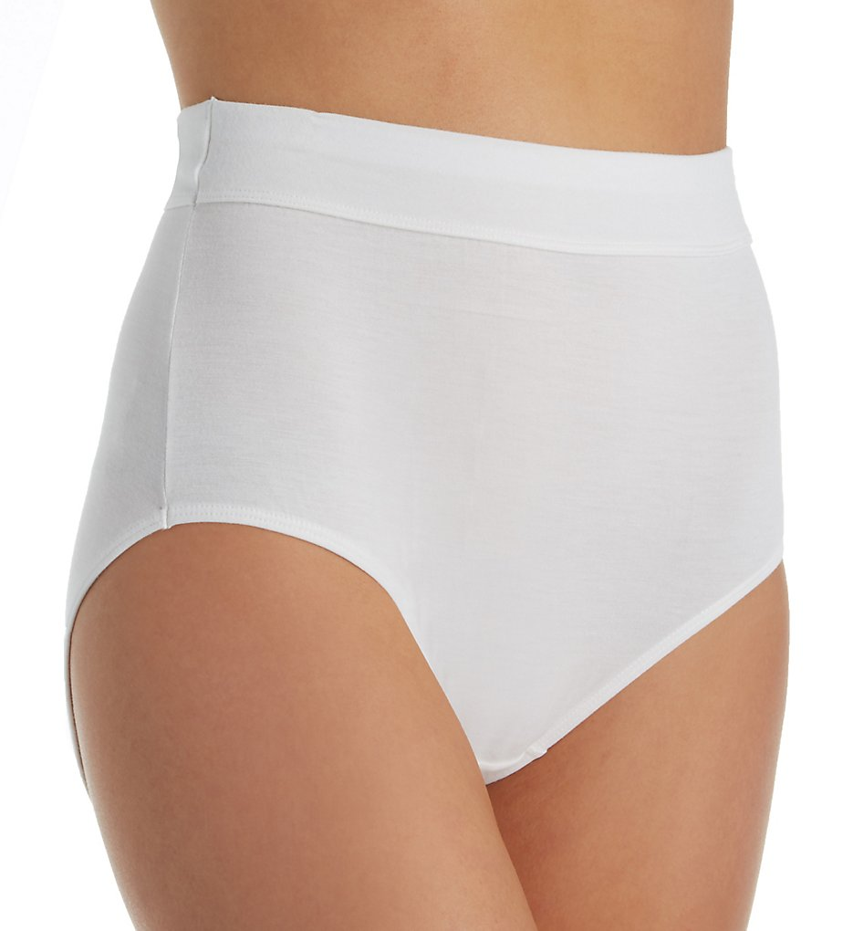 Bali : Bali DFSBF1 Comfort Incredibly Soft Brief Panty (White 6)