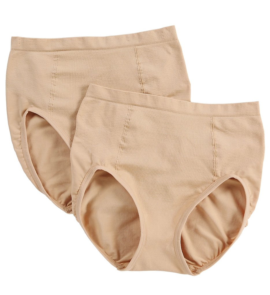 Bali - Bali X245 Ultra Control Shaping Brief Panty - 2 Pack (Nude/Nude L)