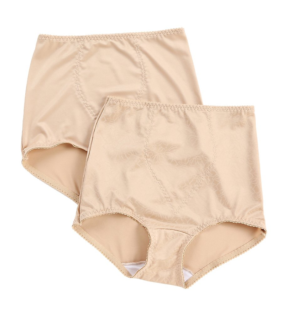 Bali - Bali X70J Light Control Brief Panty w/ Tummy Panel - 2 Pack (Nude/Nude Deluster L)