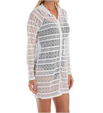 Beach House Lace Up and Go Indra Hooded Zip Up Cover Up