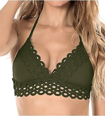 Becca Siren Halter Bikini Swim Top