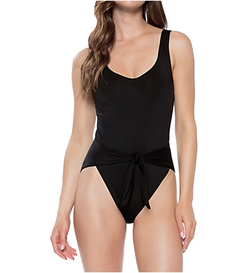 Becca Black Magic Wrap Front One Piece Swimsuit