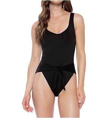 0f32ae192e1c8 Becca Black Magic Wrap Front One Piece Swimsuit 851497 - Becca Swimwear