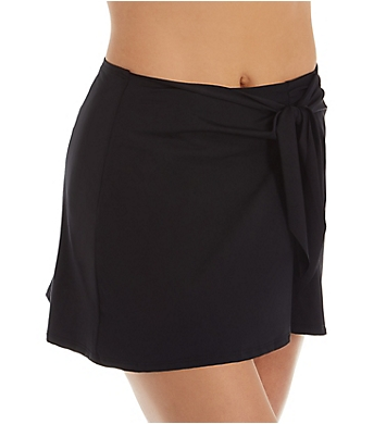 Becca Black Magic Tie Front Sarong Swim Skirt
