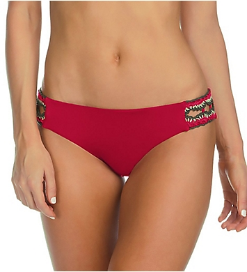 Becca Medina American Split Tab Crochet Swim Bottom