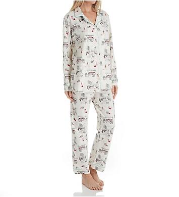 BedHead Pajamas Farmers Market Long Sleeve Long Notch PJ