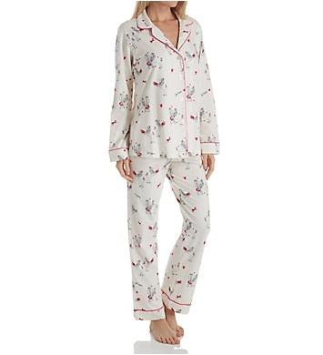 BedHead Pajamas French Poodle Long Sleeve Long Notch PJ