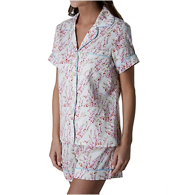 BedHead Pajamas Spring Branches Short Sleeve Short Notch PJ