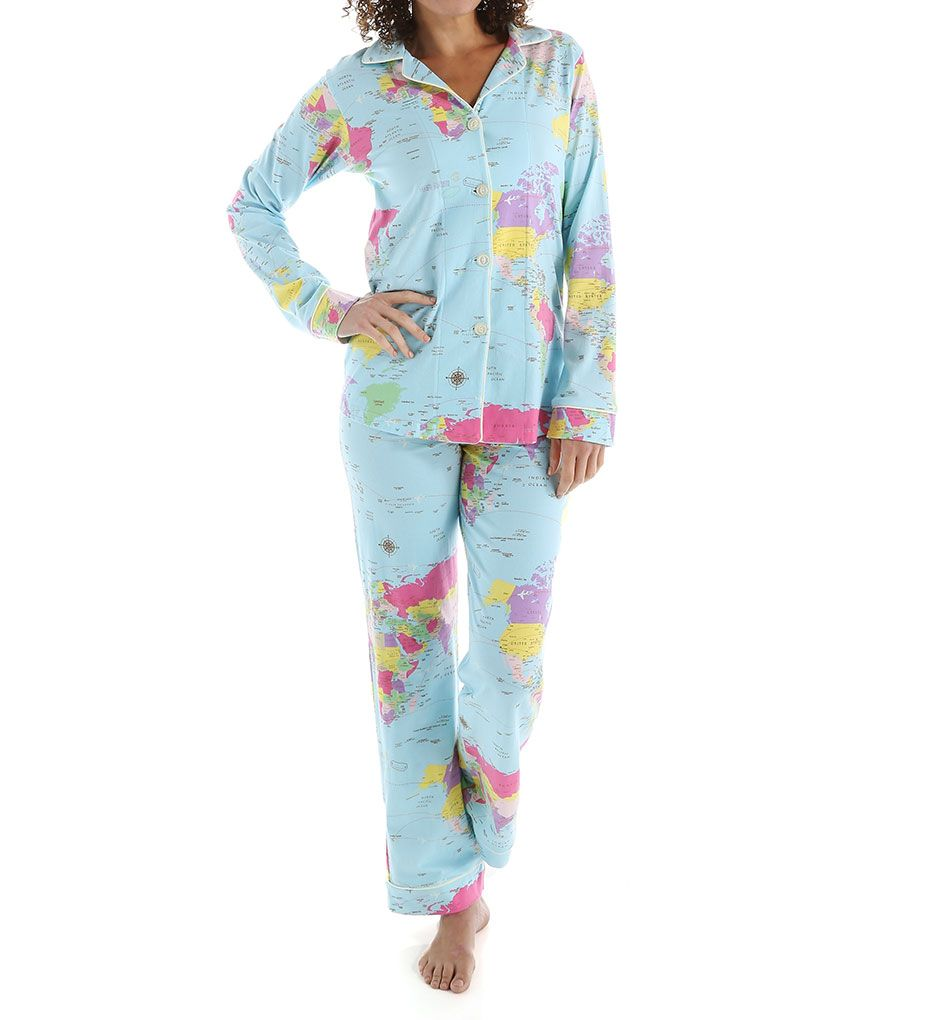 BedHead Pajamas Around The World Long Sleeve Classic PJ Set
