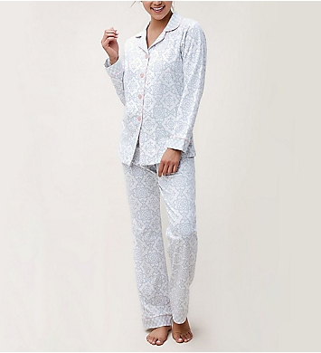 BedHead Pajamas Gray Malibu Tiles Long Sleeve PJ Set