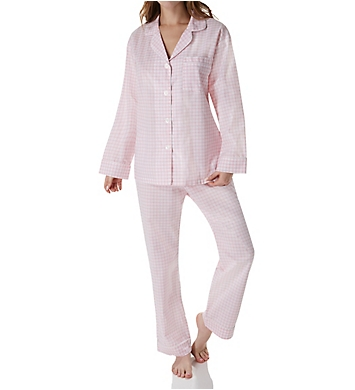 BedHead Pajamas Pink Almost Gingham Long Sleeve PJ Set