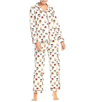 BedHead Pajamas Classy Cats Long Sleeve PJ Set