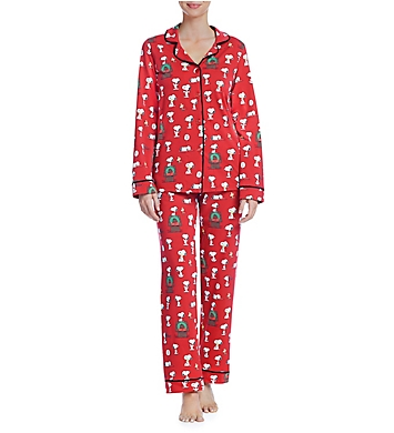 bedhead pajamas snoopy christmas long sleeve pj set - Snoopy Christmas Pajamas