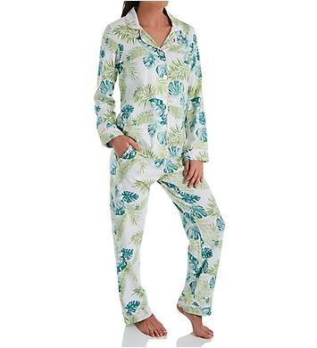 BedHead Pajamas Island Palm Long Sleeve PJ Set