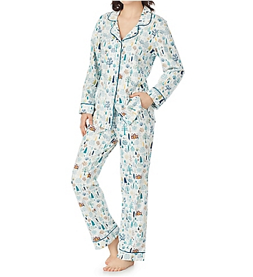 BedHead Pajamas Cabin in the Woods Long Sleeve Classic PJ Set
